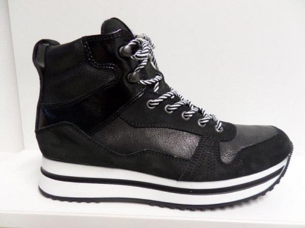 Paul Green High Top Sneaker, Lederfutter Schwarz