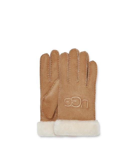 UGG Fingerhandschuhe Lammfell Braun - Bild 1
