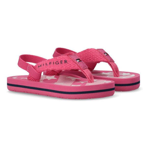 Tommy Hilfiger Zehentrenner-Sandale Pink - Bild 1