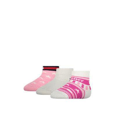Tommy Hilfiger Socken 3er Pack Rosa - Bild 1
