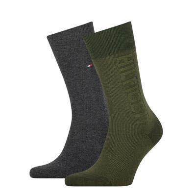 Tommy Hilfiger Socken 2er Pack Oliv