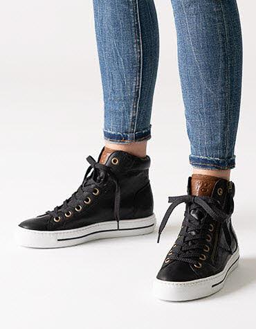 Paul Green High Top Sneaker Schwarz - Bild 1