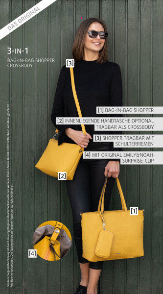 EMILY - & - NOAH Shopper, Bag in Bag Diverse Farben - Bild 1