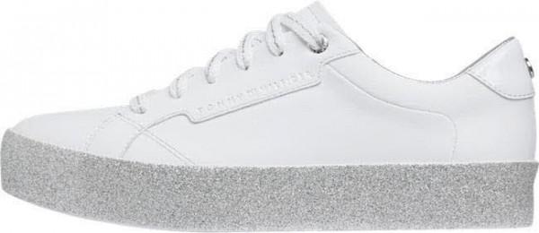 Tommy Hilfiger GLITTER FOXING DRESS SNEAKER Sneaker Weiss