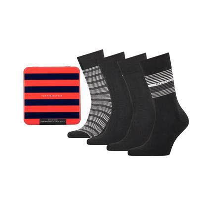 Tommy Hilfiger Socken 4er Pack Schwarz - Bild 1