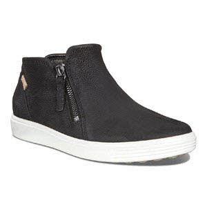 Ecco Soft 7 W Bl High Top Sneaker Schwarz