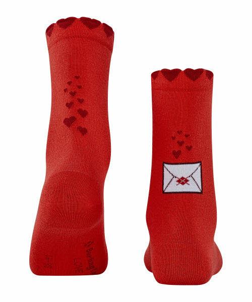 Burlington Secret Love Letter Socke Gr. 36-41 Rot - Bild 1