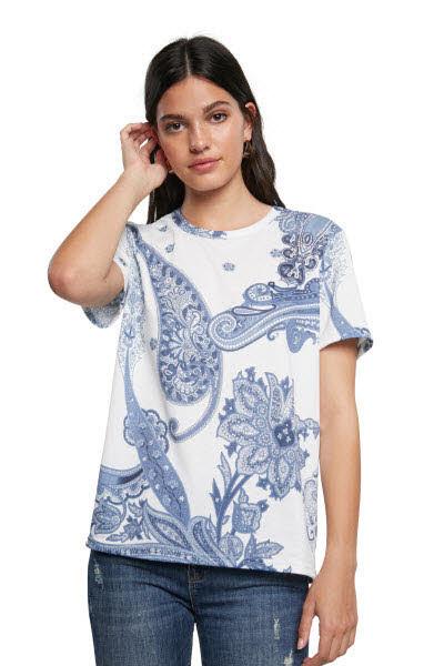 Desigual T-Shirt Weiß - Bild 1