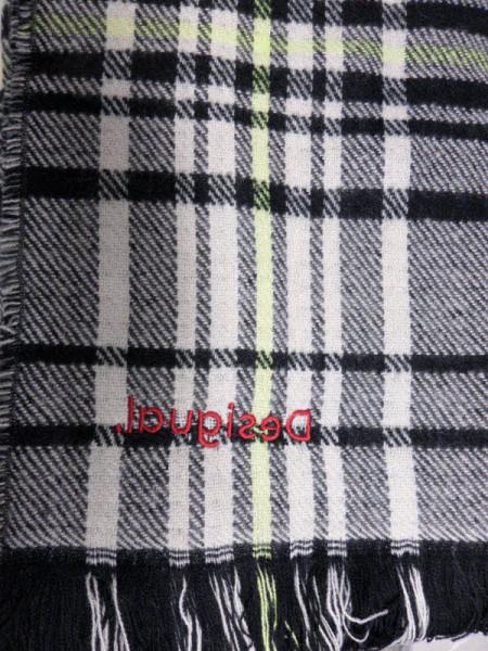 Desigual Poncho/Schal zum Wenden  Grau - Bild 1