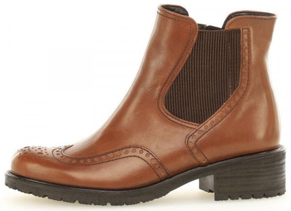 Gabor Chelsea Boot, Textilfutter Braun